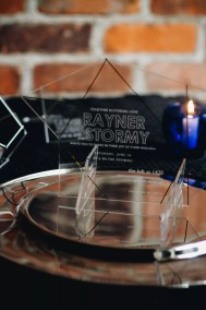Modern Acrylic Wedding | revelry + heart | Detroit Wedding | Chettara T Photography