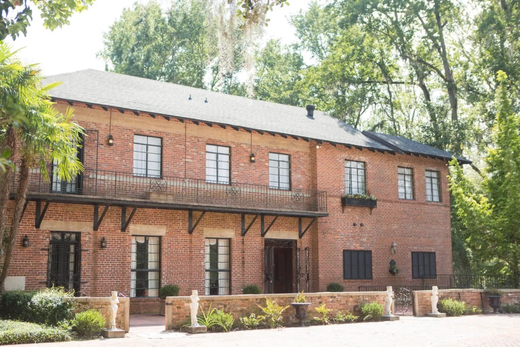 brick wedding venue exterior with warehouse feel