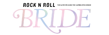 "rocknroll bride magazine logo for revelry and heart feature titled ""punk rock princess, the ultimate emo-inspired wedding"""