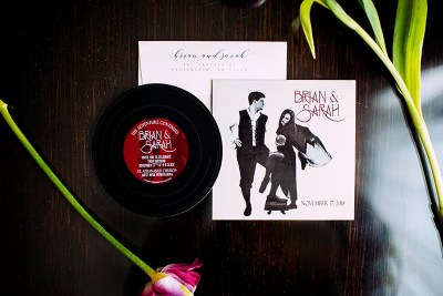 Fleetwood Mac Record Wedding Invitation for Music Lovers