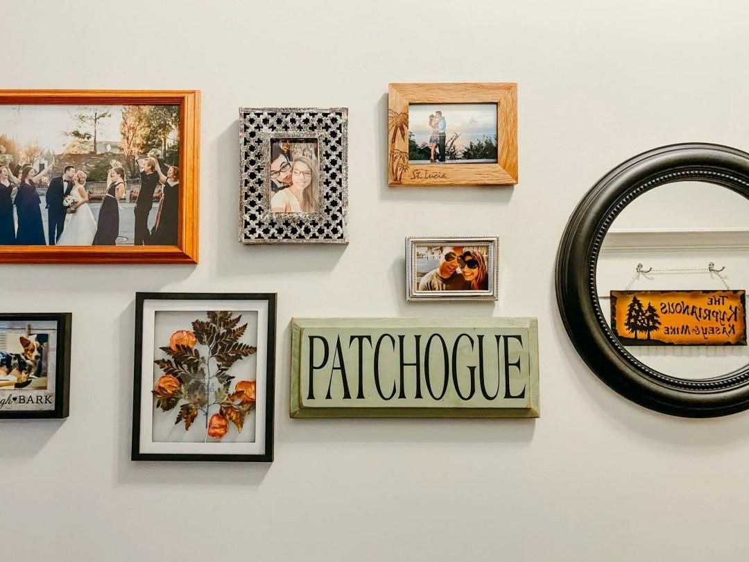 Gallery wall featuring keepsake wedding frame from revelry +heart