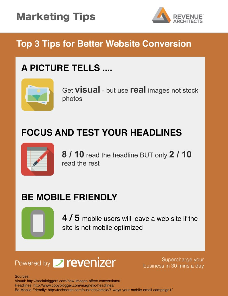 Revenizer web conversion tips