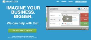 Revenizer virtual marketer above the fold