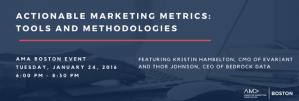 AMA actionable marketing metrics banner