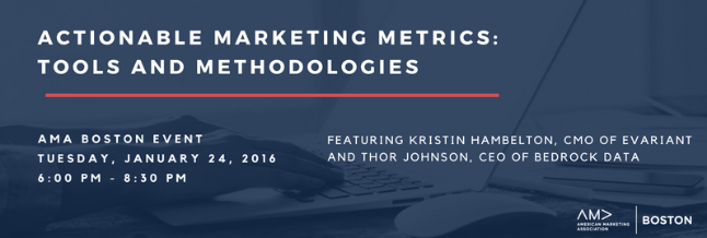 AMA actionable marketing metrics banner