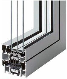 Perfil de ventanas y puertas de aluminio