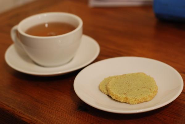 Matcha Green Tea Almond Shortbread Cookies - Reverberations