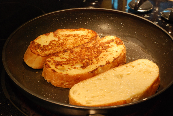 Frying French Toast