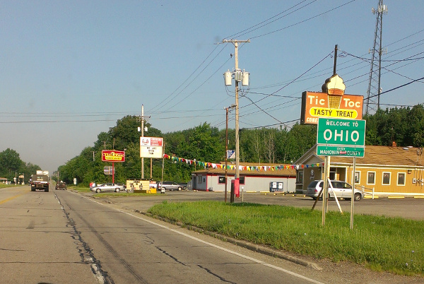 Ohio border