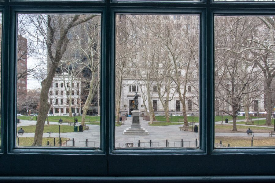 Relive colonial Philadelphia with a view from Independence Hall onto the park.