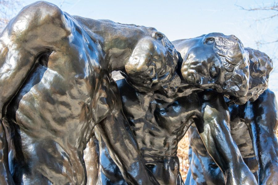 Three Shades sculpture at the Rodin Museum in Philadelphia.