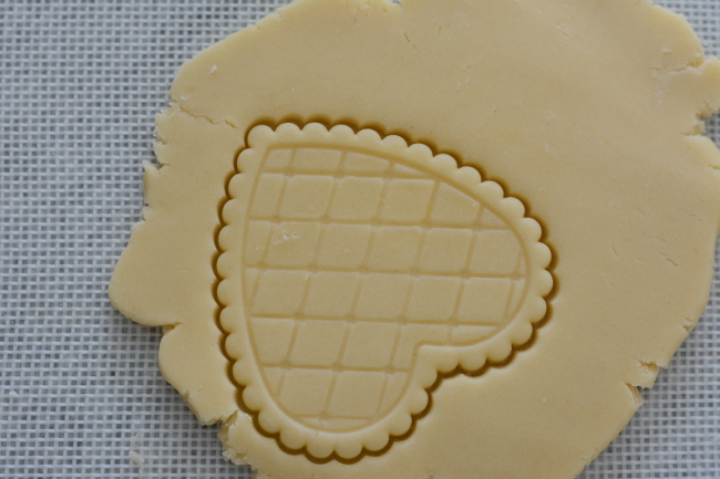 cookie cutting butter cookies