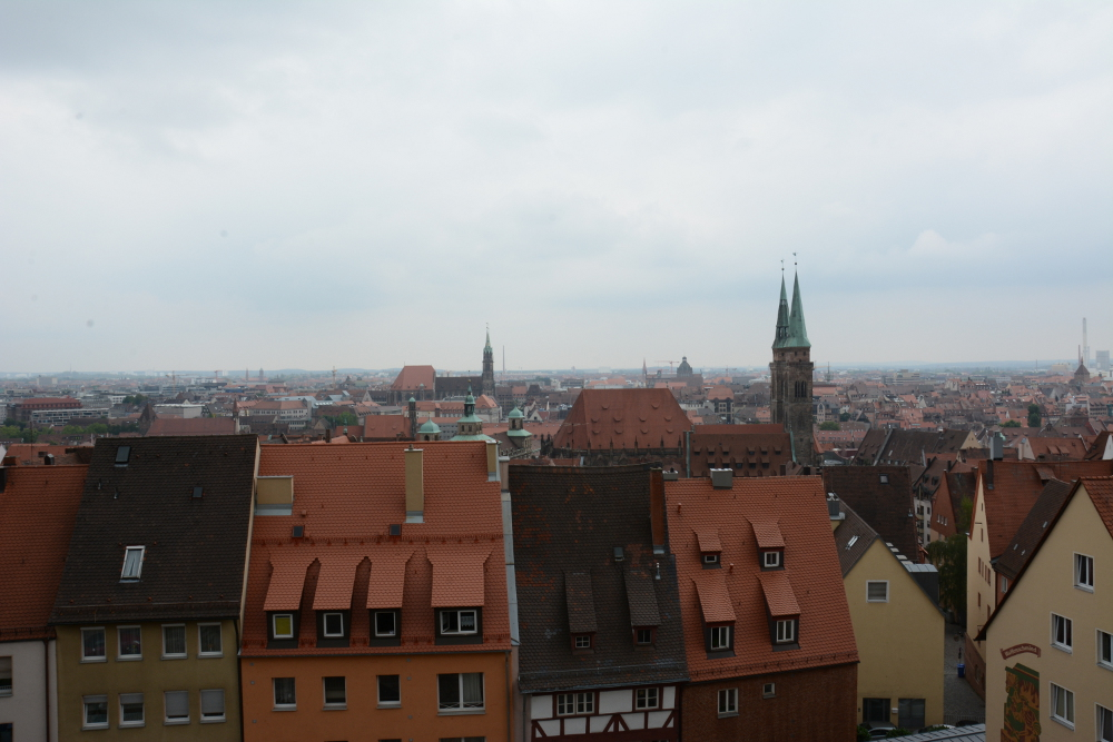 A view of the Nuremberg skyline. A visit to the city on Reverberations blog.