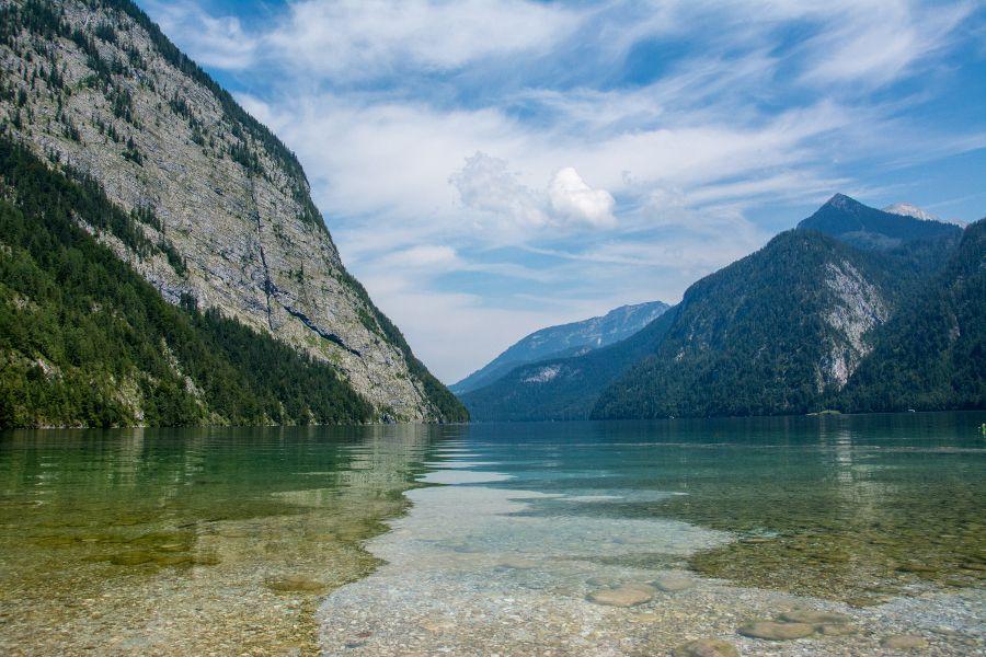 The Königssee lake in Berchtesgaden, Bavaria, Germany.