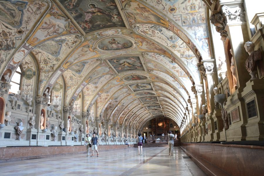 Antiquarium at the Residenz Munich in Germany.