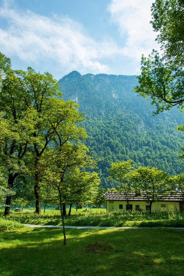 Hiking through the Berchtesgaden National Park at the Königssee.