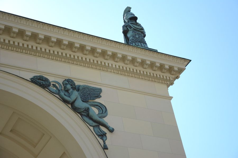 Hofgarten at the Residenz Munich in Germany.