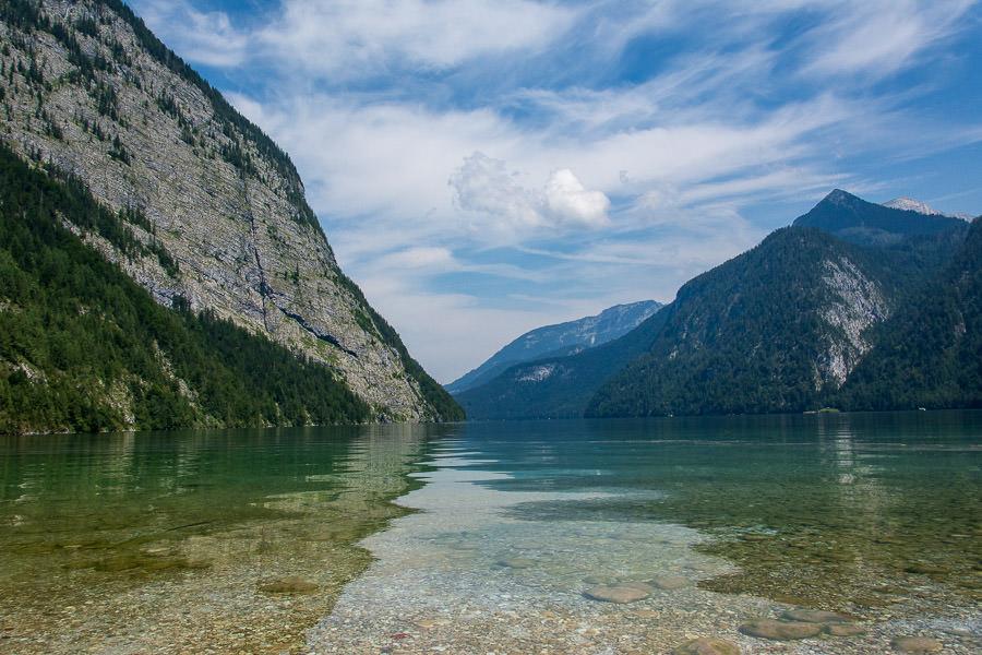 The Königssee lake, deep in Bavaria near Austria.