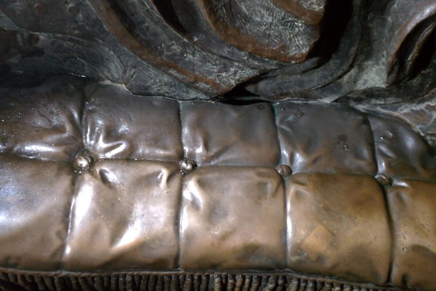 Inside Munich's Bavaria statue are cast bronze couches!