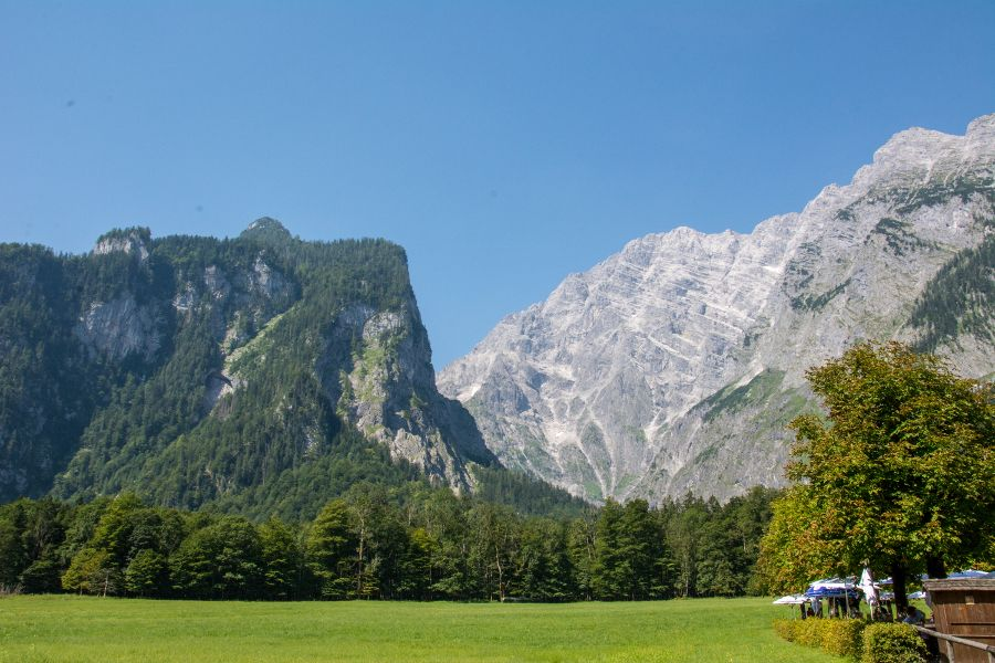 Watzmann mountain in Berchtesgaden National Park.