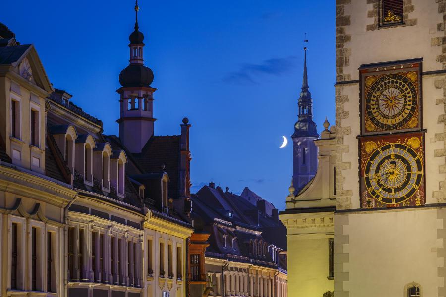 Görlitzer Altstadt mit Halbmond/// Foto: Nikolai Schmidt / www.nikolaischmidt.de Görlitz