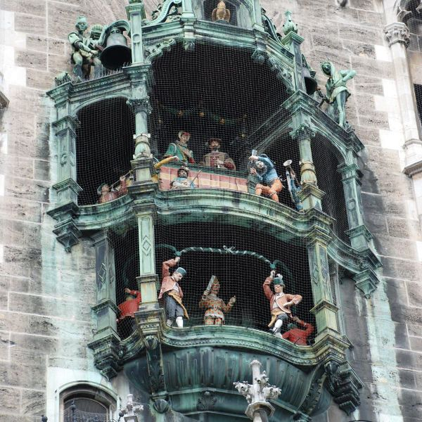 Go see the Glockenspiel during 24 hours in Munich Germany.