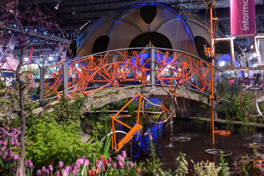 philadelphia flower show ecodome bridge