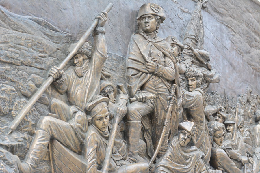 Washington art by Ellen Qiong Schicktanz. Philadelphia's brand new Museum of the American Revolution shares the real stories of the struggles and war that helped found the United States.
