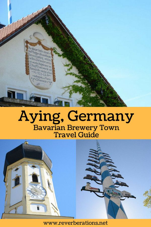 Just outside of Munich is Aying, Germany. This Bavarian town is known for its brewery but there is more to this quaint town than just Ayinger Beer. #aying #munich #bavaria #germany #travel