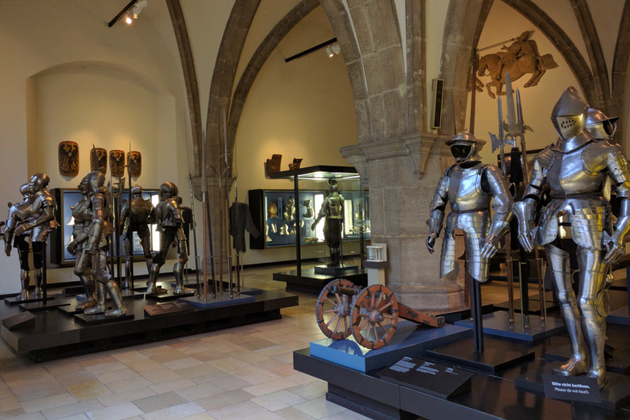 Arms and armor at Munich's Bayerisches Nationalmuseum.