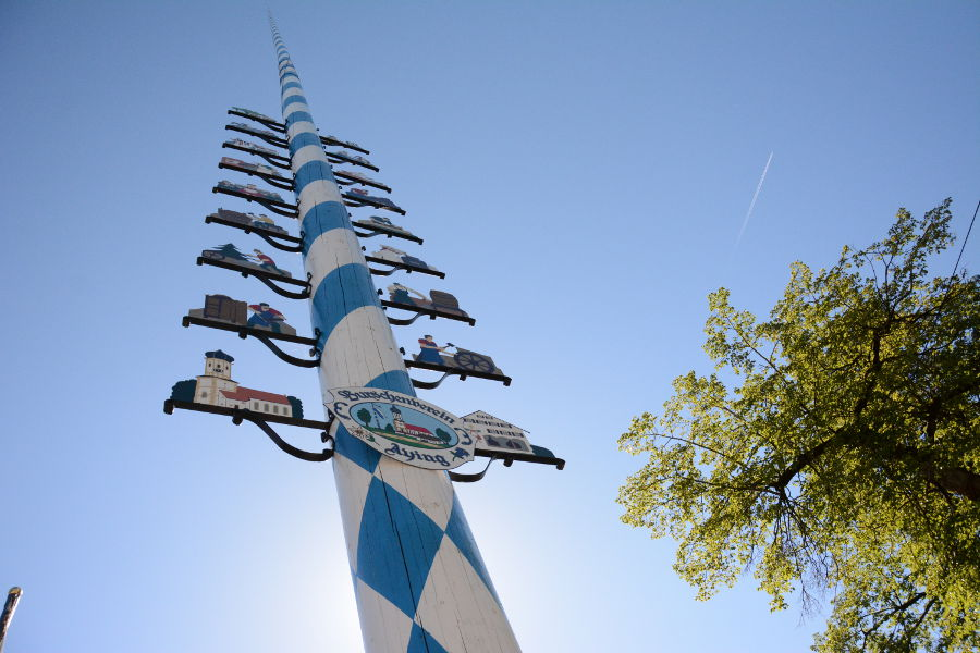 The Maypole in Aying, Germany.