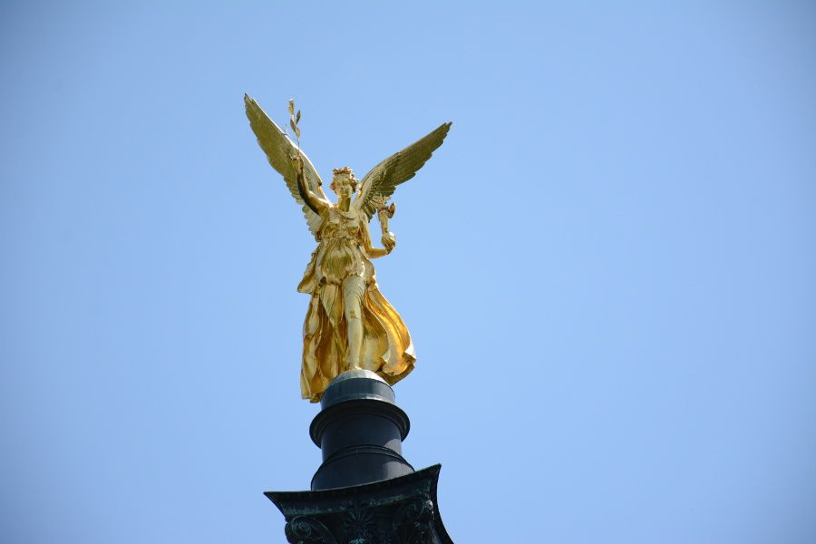 Friedensengel or Angel of Peace in Munich, Germany.