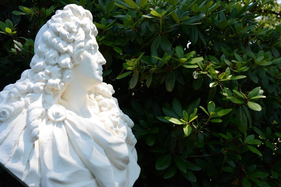 A bust in Nemours Gardens.