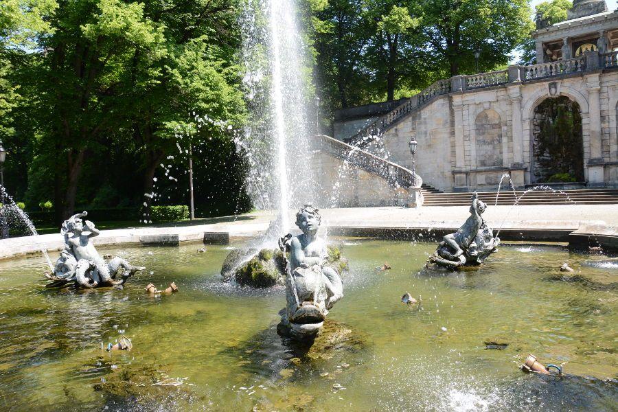 The Putti Fountain at the Friedensengel in Munich.