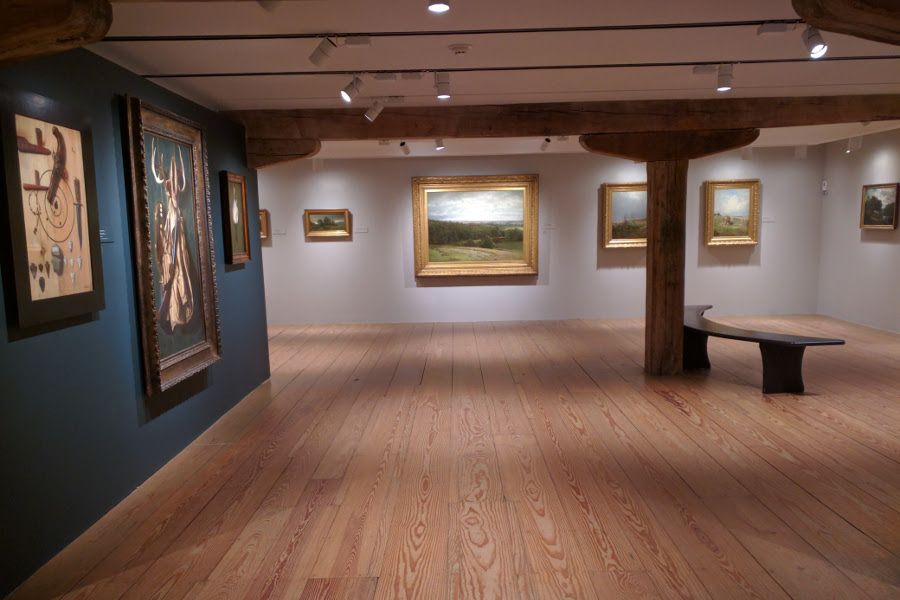 A gallery at the Brandywine River Museum of Art.