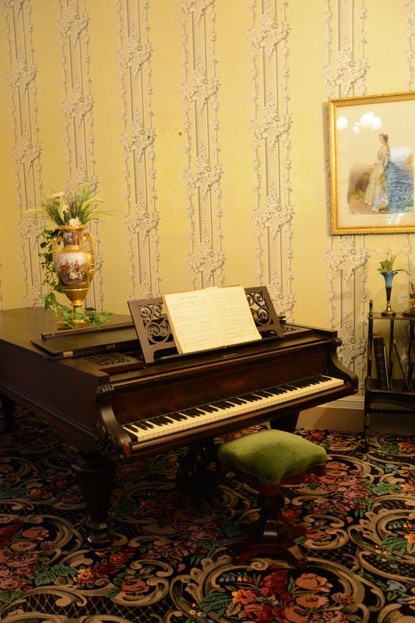 Piano in the parlor at Wheatland.