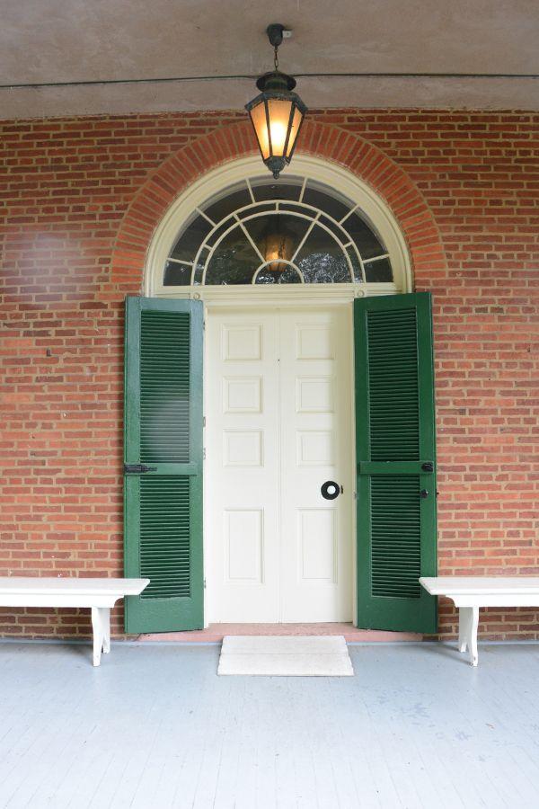Porch door at Wheatland.