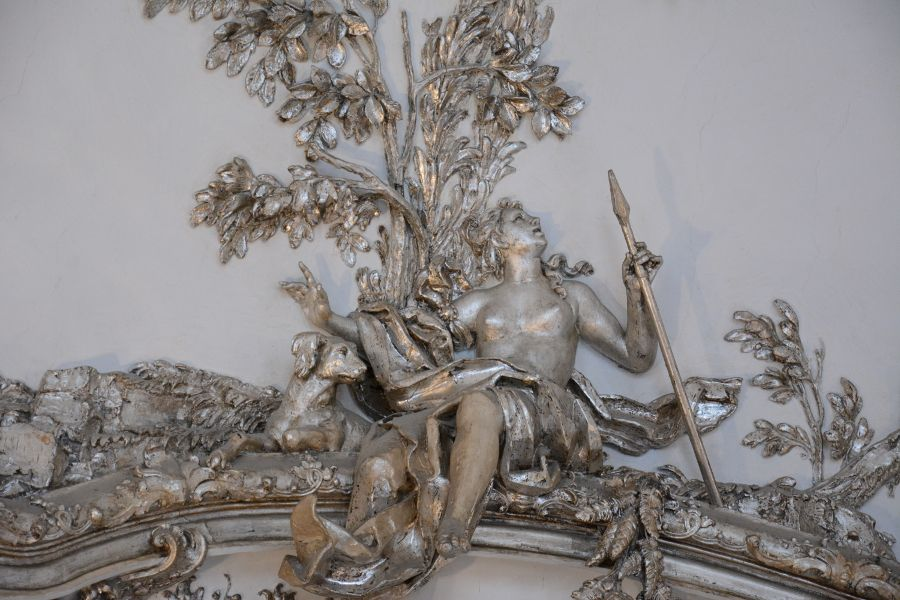 Details in Amalienburg at Nymphenburg in Munich, Germany.