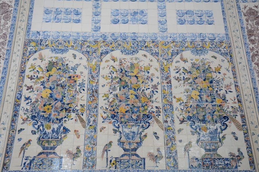 Tiles in Amalienburg at Nymphenburg in Munich, Germany.