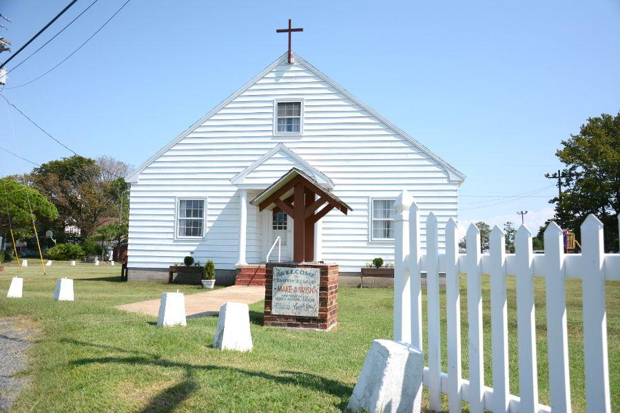 A church in Ewell on Smith Island.