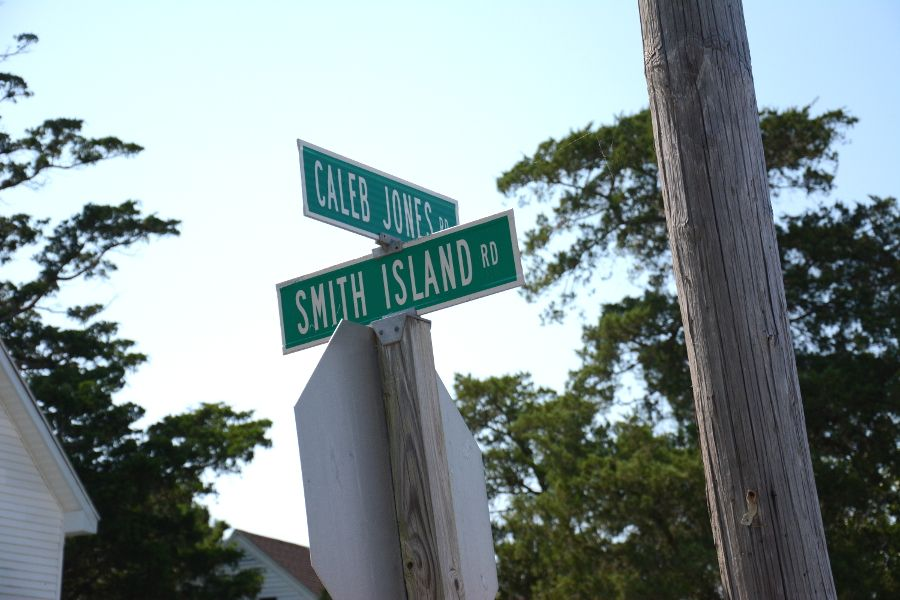 Street sign on Smith Island.