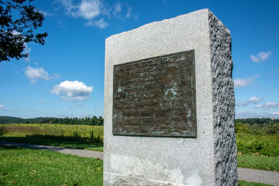 A monument honoring the Continental Army at Valley Forge.