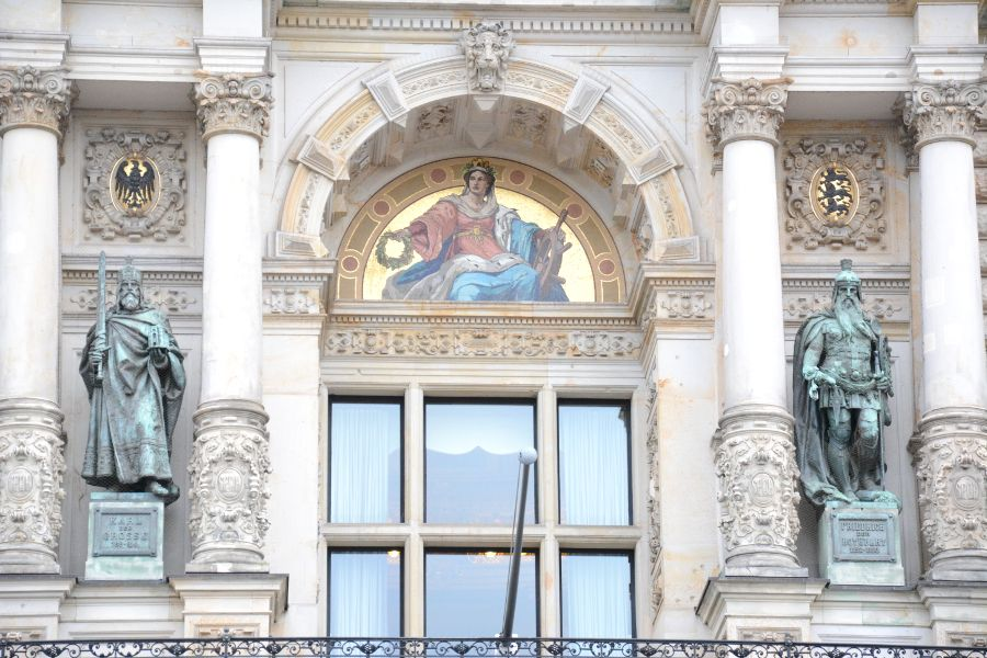 Facade of Hamburg's Rathaus, or Town Hall.