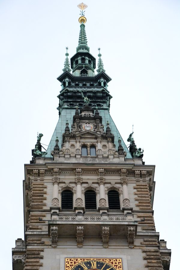 Tower of Hamburg's Rathaus, or Town Hall.