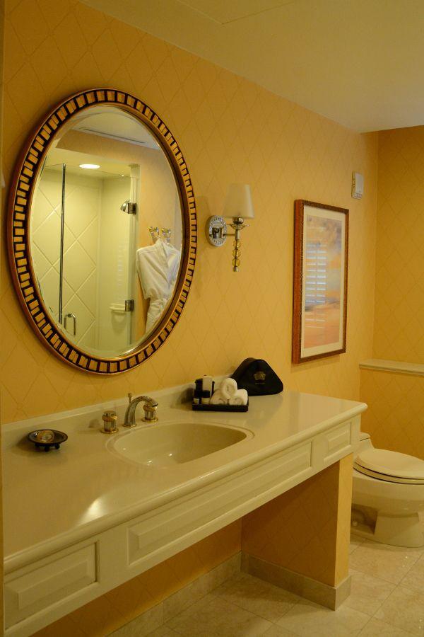 Bathroom sink at Hotel Du Pont.
