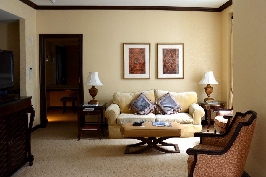 Sitting area in Hotel Du Pont room.