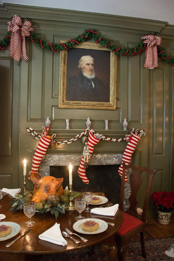 Christmas dinner in the Wilson-Warner House in Historic Odessa, Delaware.