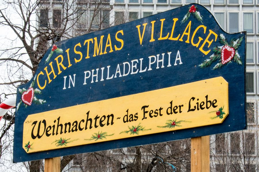 Philadelphia's Christmas Village is a traditional German Christmas market.