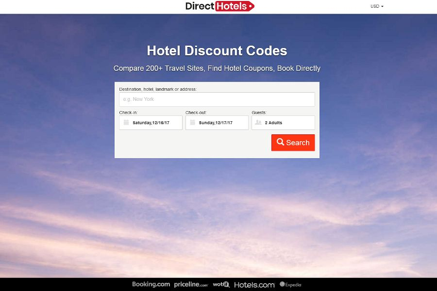 DirectHotels.com is a hotel price comparison website that lets you support independent hotels.