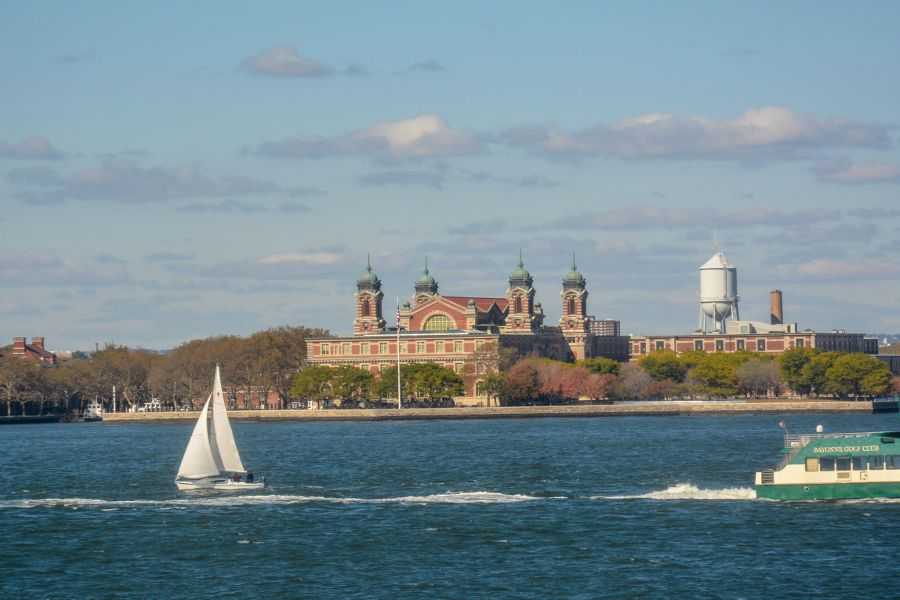 Cruising by Ellis Island on the Staten Island Ferry is one of the great free things to do in New York City.